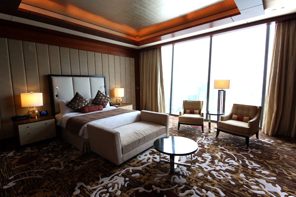 The Master Bedroom in the Straits Suite