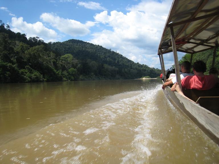 Sailing in to Taman Negara