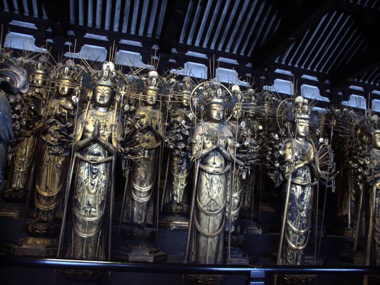 The many Buddhas of Sanjusangendo Hall