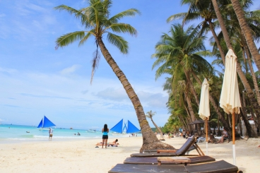 White Beach in Boracay is perfect for a San Miguel and a Halo-Halo