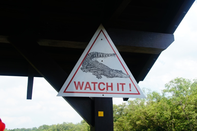 Watch out - crocs about!