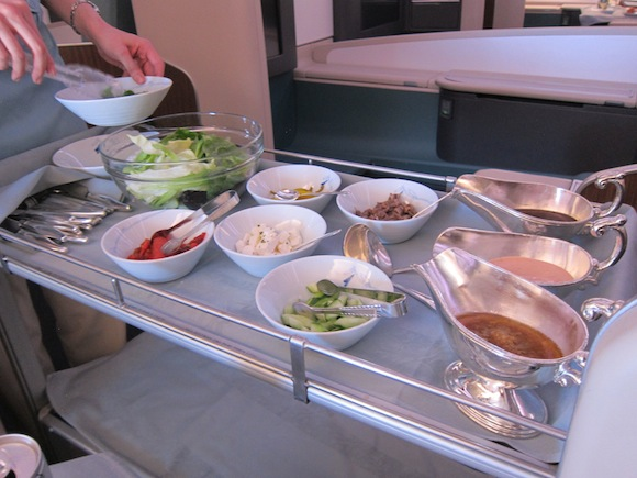 Korean Air's salad cart