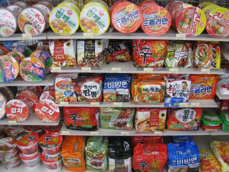 Groceries in a Korean shop