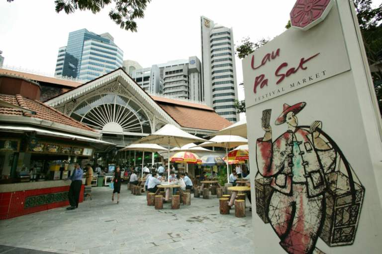 The newly-refurbished Lau Pa Sat hawker is targeted at tourists