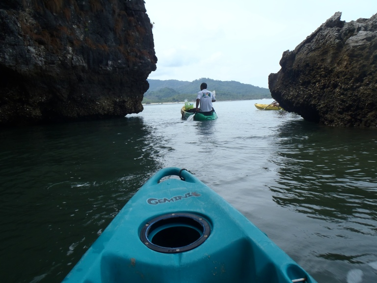 You can even sea kayak through the mangroves out to sea!