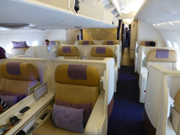 First Class on Thai's new A380 aircraft is very nice