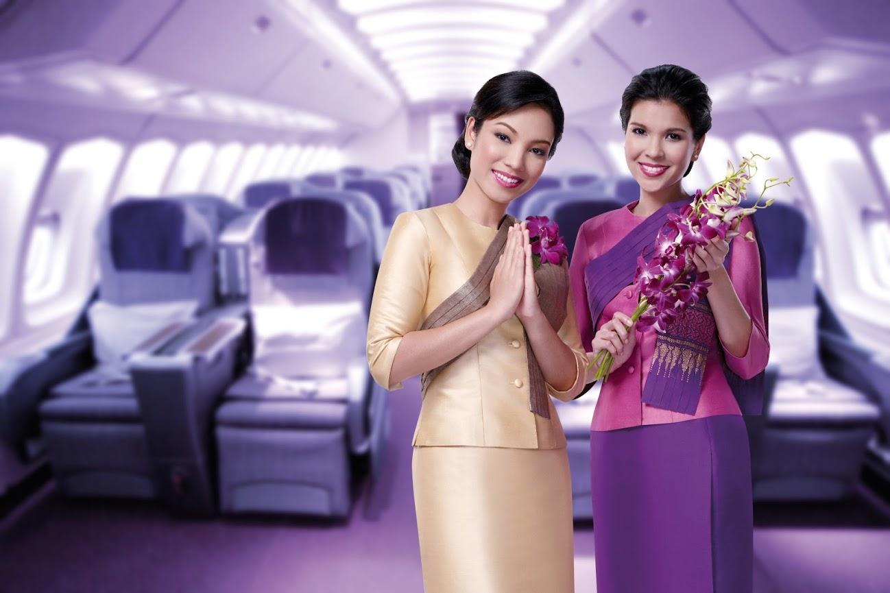 Thai airways air hostess new dress style