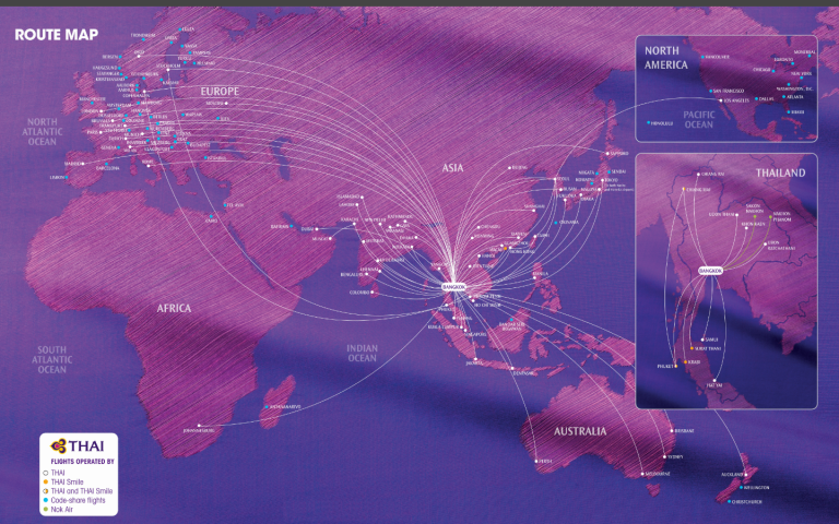 Thai Airways International Route Map