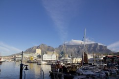 The Cape Town Waterfront with Table Mountain in the background