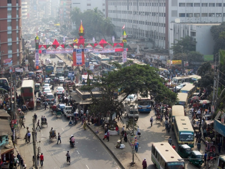 The roads are crazy in Dhaka!