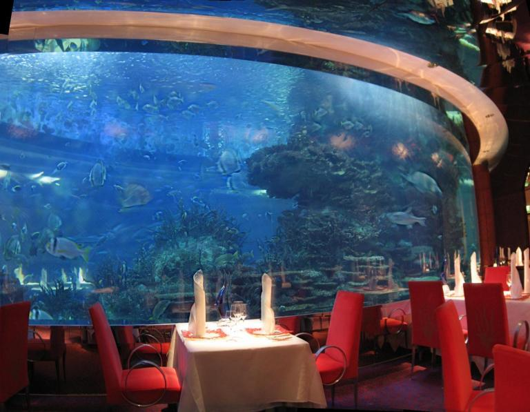 The Al Mahara restaurant in Burj al Arab hotel