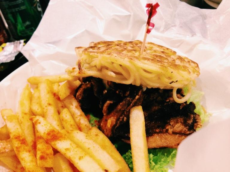 Ramen burger from Little Hiro