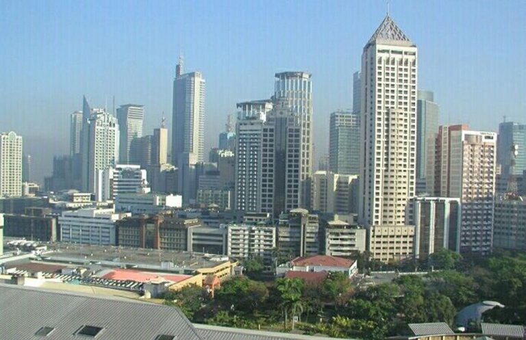 The Makati District skyline