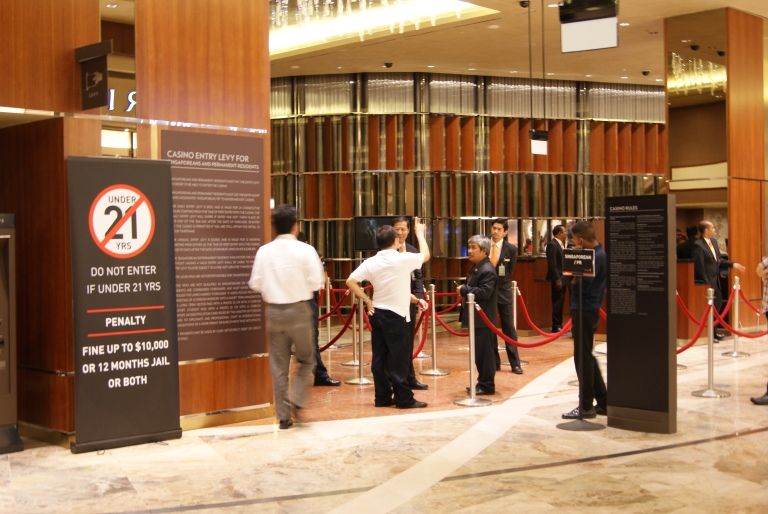 Entrance to the casino at MBS