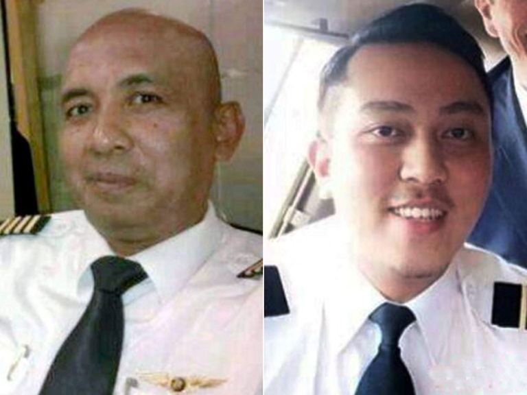 The pilot Zaharie Ahmed Shah (left) and co-pilot Fariq Abdul Hamid (right)
