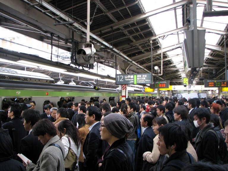 Shinjuku Station in rush hour