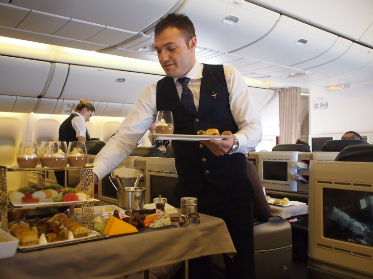 Cabin crew are friendly and professional in all cabins