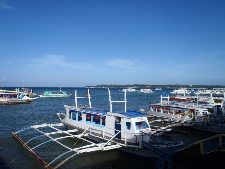 The Banca Boat awaits at Caticlan jetty