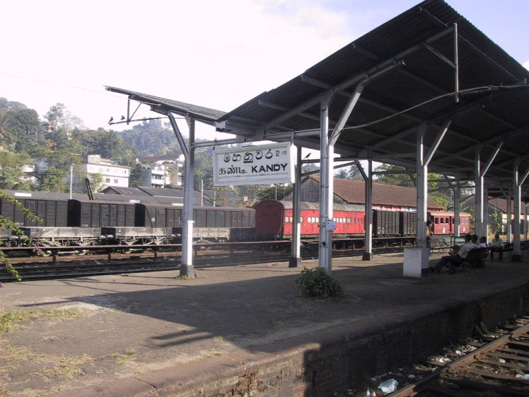 Kandy Train Station - the end of the line for me!