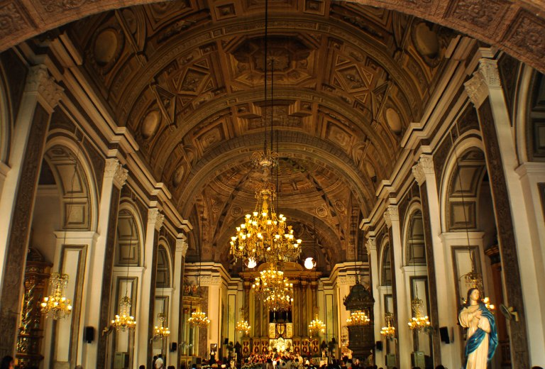 Inside San Augustin Church