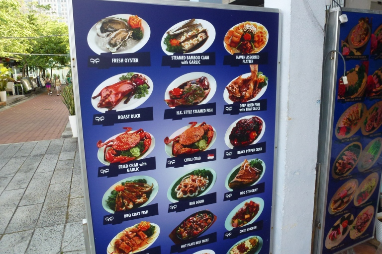 An example of crab dishes at Boat Quay