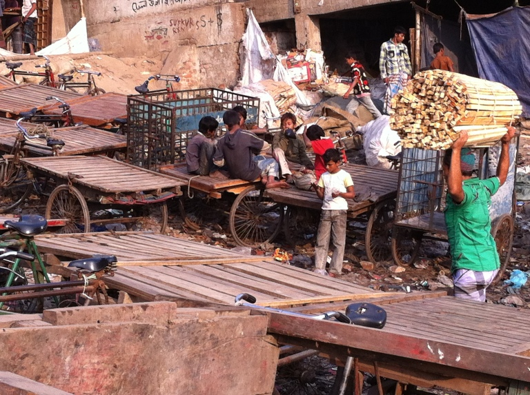 The slums are home to playful kids