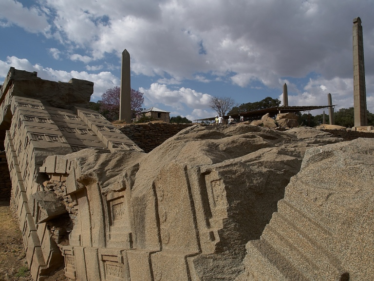 Axum: ruins in the far north of Ethiopia