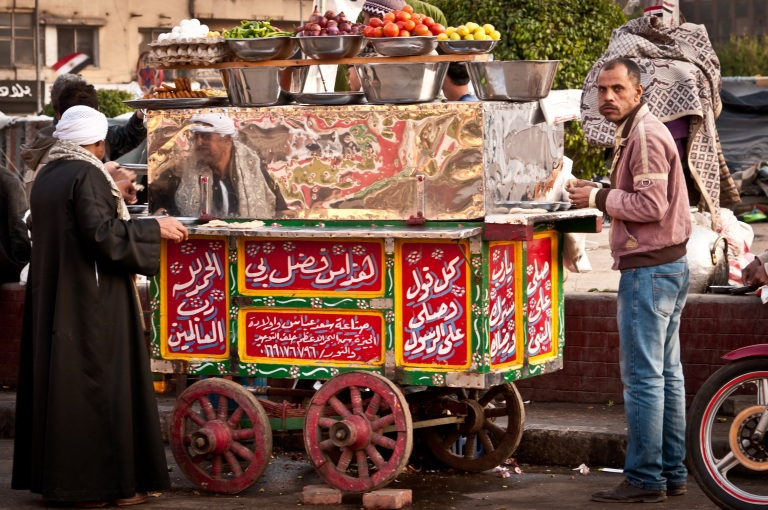 Street food in Egypt