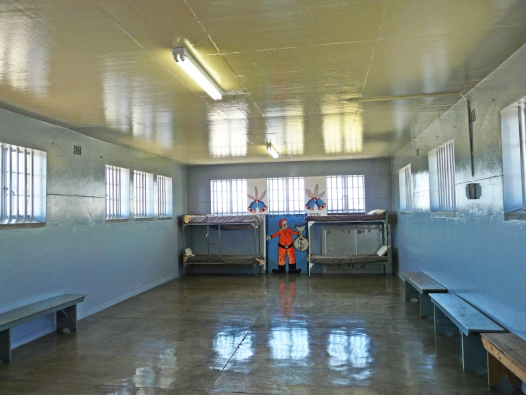 A regular cell for the inmates at Robben Island