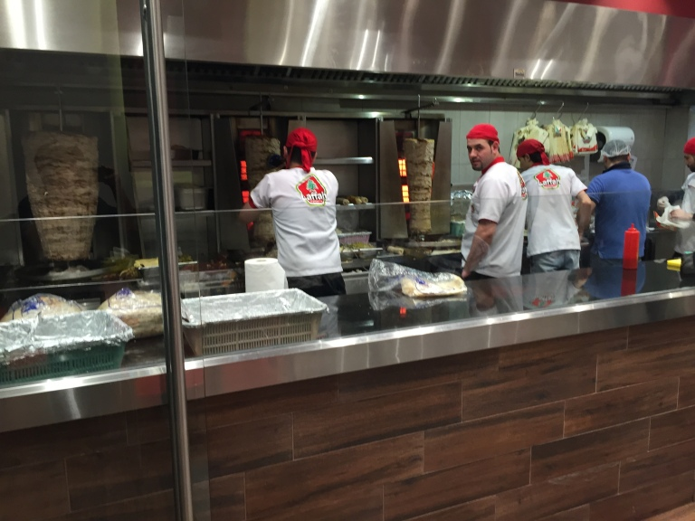 Fast food eateries can be busy in Arabic countries