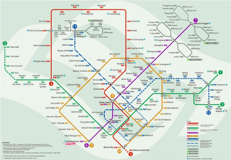 The MRT system by 2021 (click to enlarge)