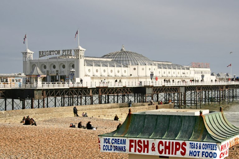 Brighton Pier is the scene of some classic fish and chips