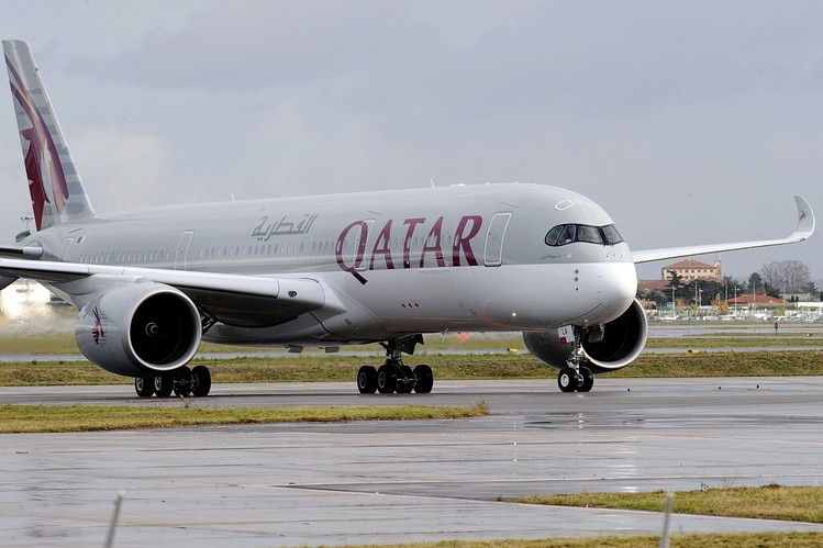 The new Qatar Airways A350, which recently launched on routes to Frankfurt and Singapore
