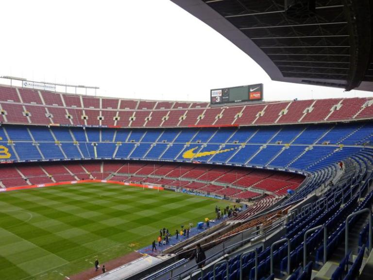 Camp Nou - the home of FC Barcelona and Leo Messi!