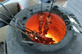 Chicken roasted in a Tandoor oven