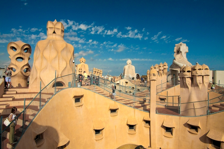 The famous rooftop of Casa Mila