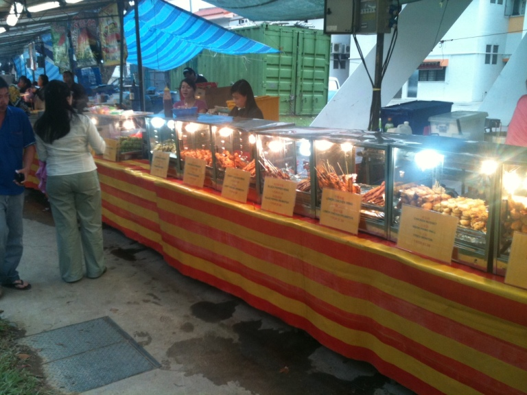 Finger food for sale at one of KL's pasar malams