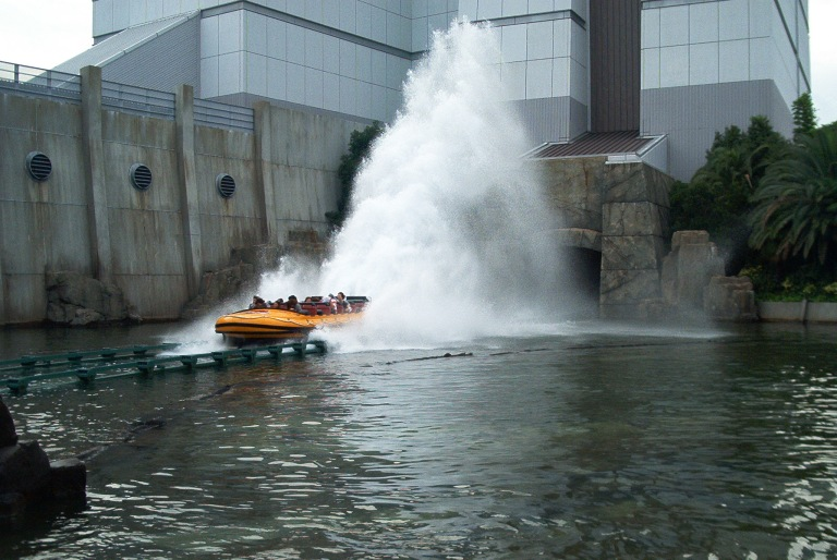 The Jurassic Park River Adventure will get you SOAKED!