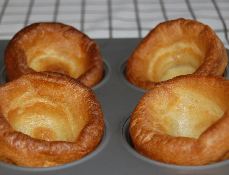Yorkshire Puddings just out of the oven