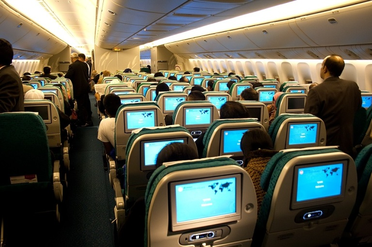 Economy class on the B777