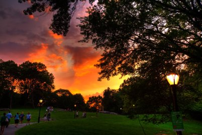 Sunset in Central Park, NYC