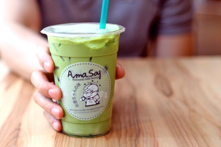 Matcha-flavoured Hokkaido Milk (photo: DanielFoodDiary)