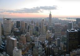 View over Manhattan after sunset