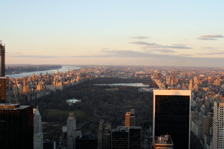 View from the Rockefeller Center, over Central Park