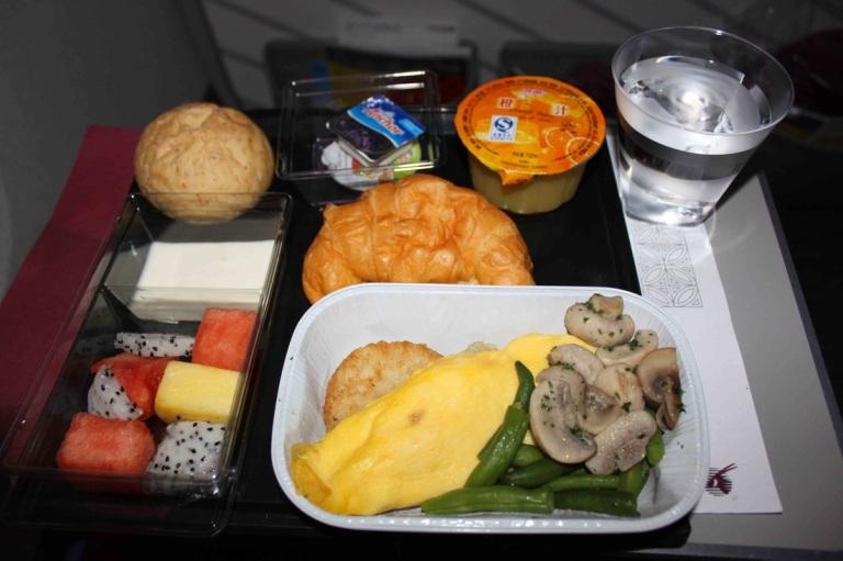 Qatar Airways Economy class meal