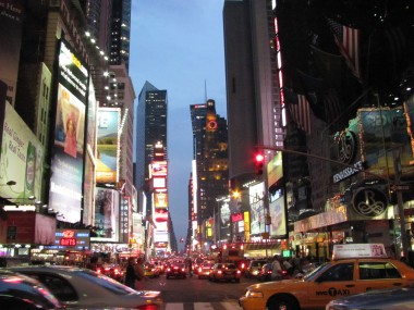 The madness of Times Square, NYC