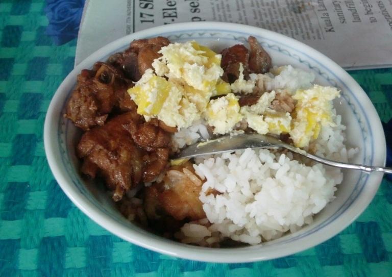 Bambangan with chicken and rice