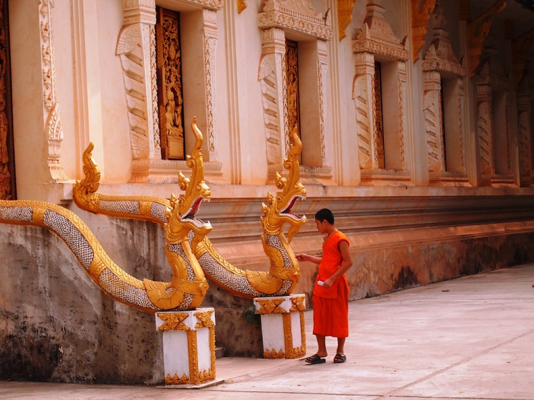 Be very respectful of monks in Laos