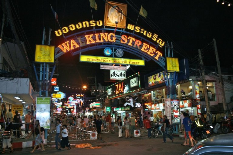 Walking Street in Pattaya is very tacky