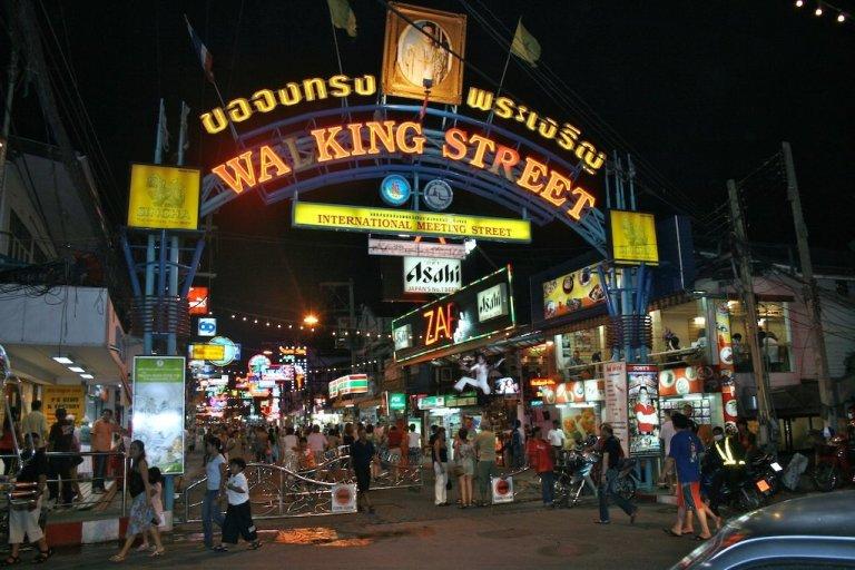 Walking Street in Pattaya is very tacky